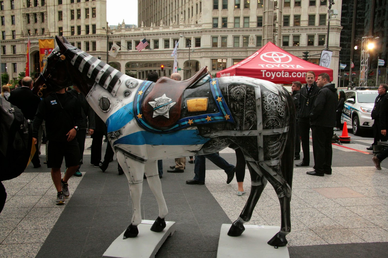 Painted Horse Sculpture.