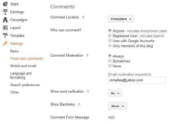 Cara Setting Kolom Komentar yang Baik di Blog