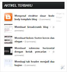 Membuat recent post blog dengan avatar