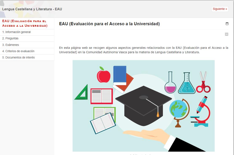 EAU (Evaluación para el Acceso a la Universidad)