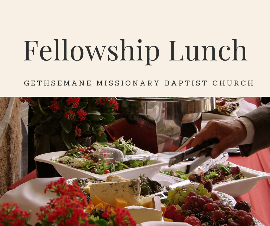 Fellowship Lunch - Second Sunday of each month