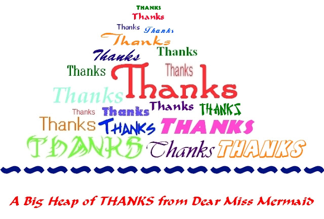 a heap of thanks from Dear Miss mermaid copyright http://dearmissmermaid.com