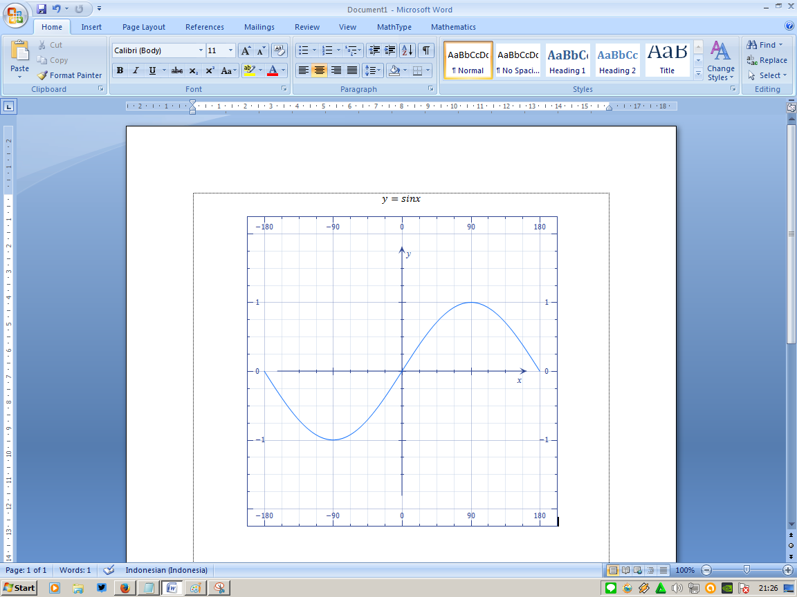 Say it raka membuat grafik trigonometri di microsoft word saya ingin langsung menyisipkan grafik ini ke dalam file word saya maka satu satunya tombol adalah yang berada di pojok kanan bawah dengan tulisan insert ccuart Gallery