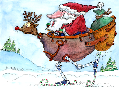 Christmas 2012 greeting card illustration