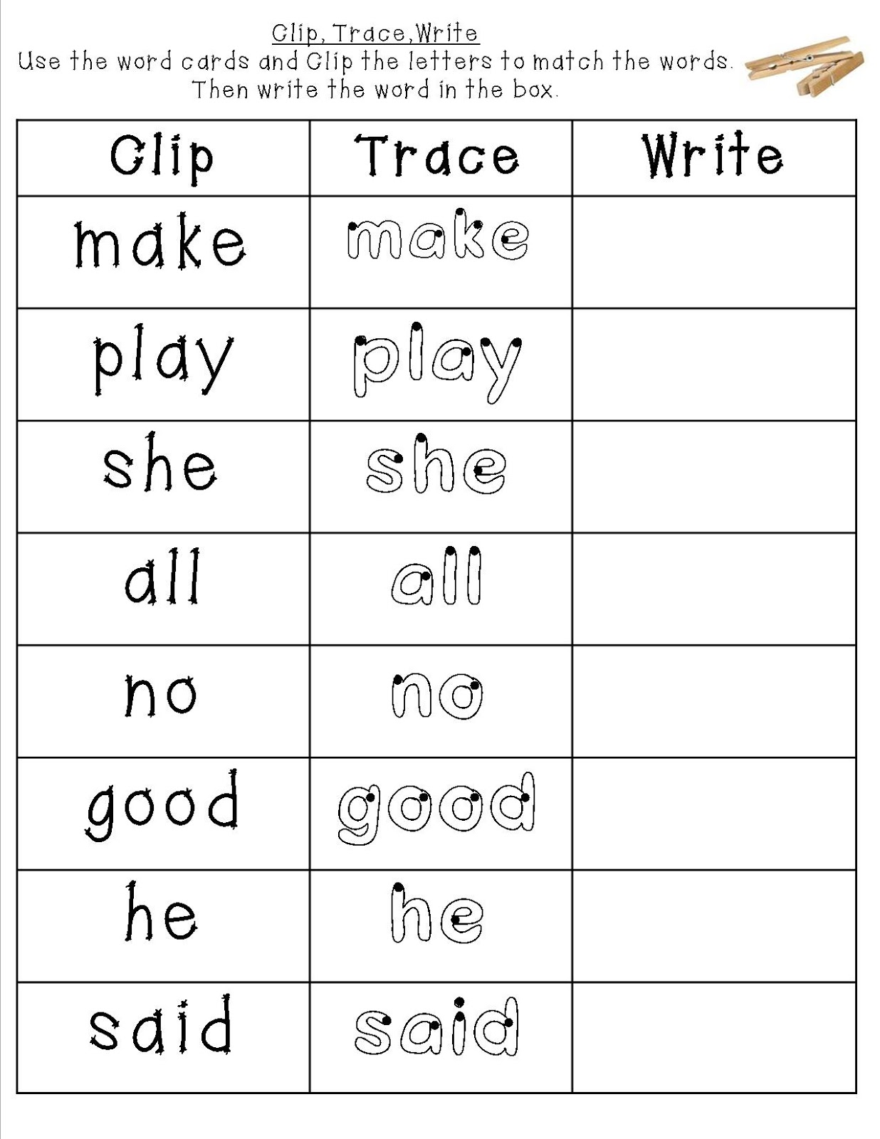 Color By Sight Word Worksheets – Sight Words Tracing Worksheets for Kindergarten