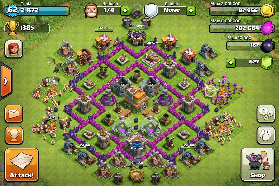 Clash of clans base layouts level 8 town hall