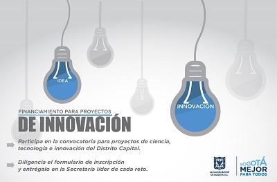 Convocatoria para proyectos de ciencia, tecnología e innovación del Distrito Capital – 2016
