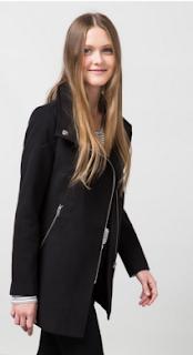 Manteau pas cher Style Motard noir Bershka automne-hiver