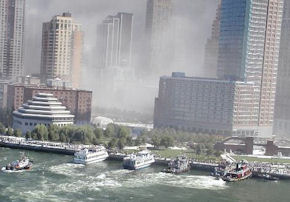 The dust cloud from the WTC collapse