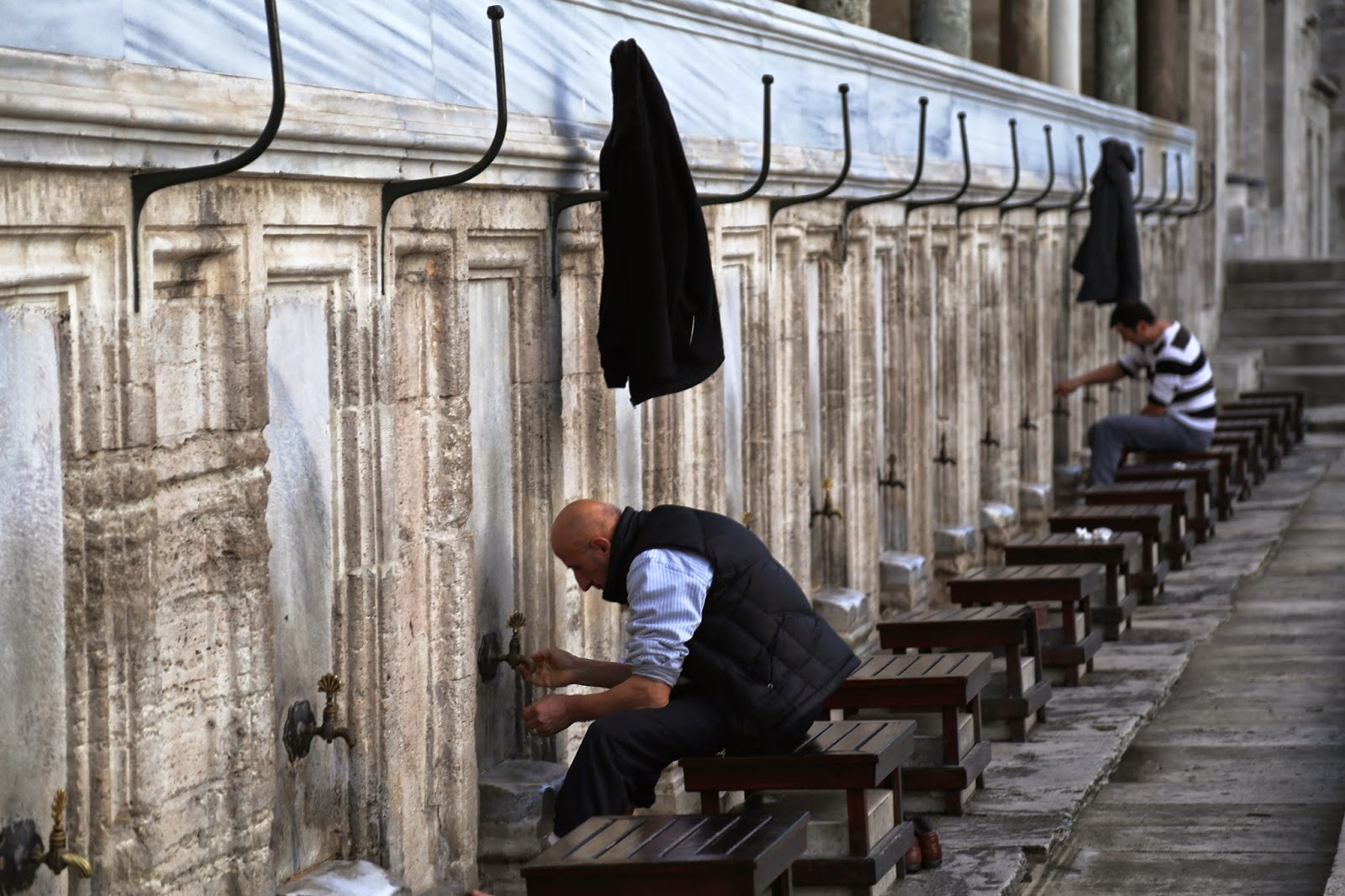feet washing, salesman mosque, istanbul