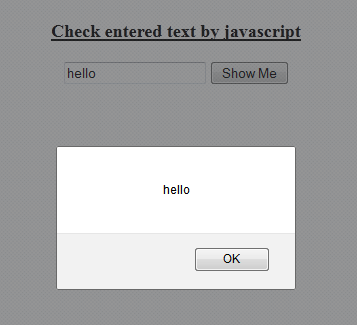 Displaying the textbox value in javascript Messagebox