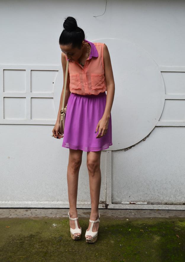 Valentines Outfit Idea:Colour-Block Dress