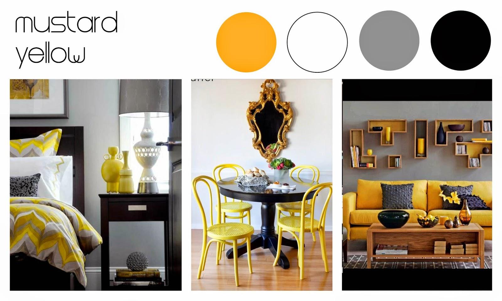 Mustard yellow decor