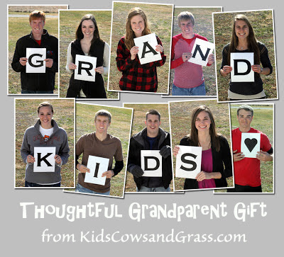 Grandparents gift from KidsCowsandGrass.com