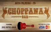 CHOPPANA BAR - Acesse a página do novo point de lazer de Nova Palmeira