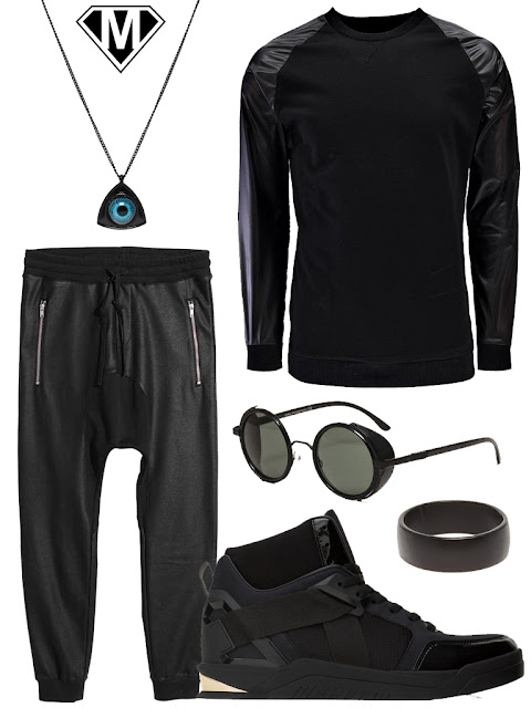 tenue cyberpunk homme man outfit