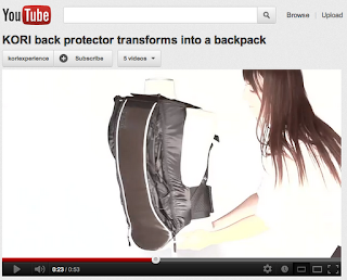 kori back protector back pack video