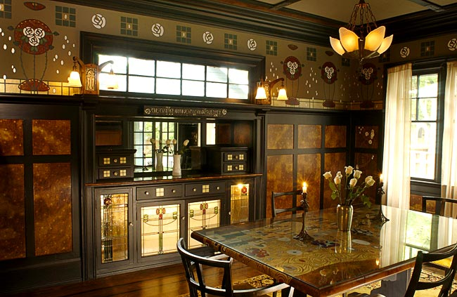 Domythic bliss the arts and crafts movement for Arts and crafts style interiors