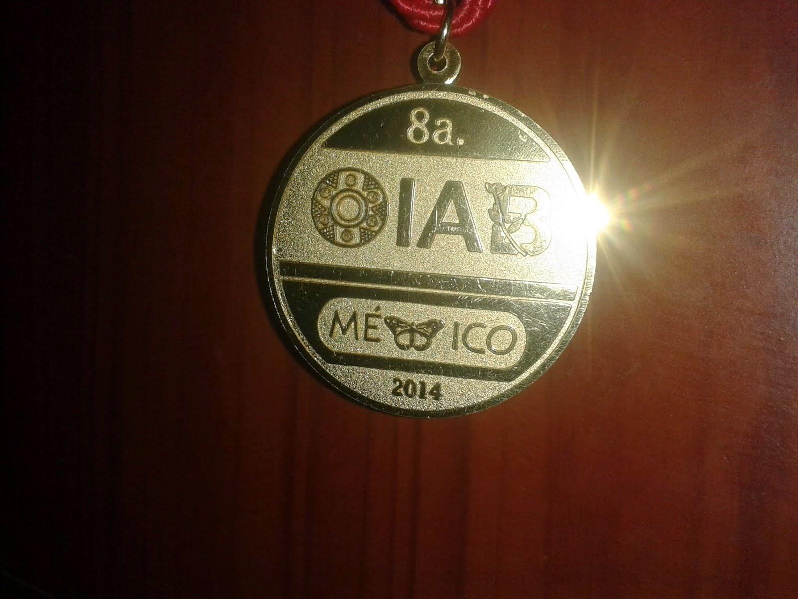 MEDALLA DE ORO. PERU ES EL NUEVO CAMPEÓN IBEROAMERICANO DE BIOLOGIA VIII OIAB MEXICO 2014.