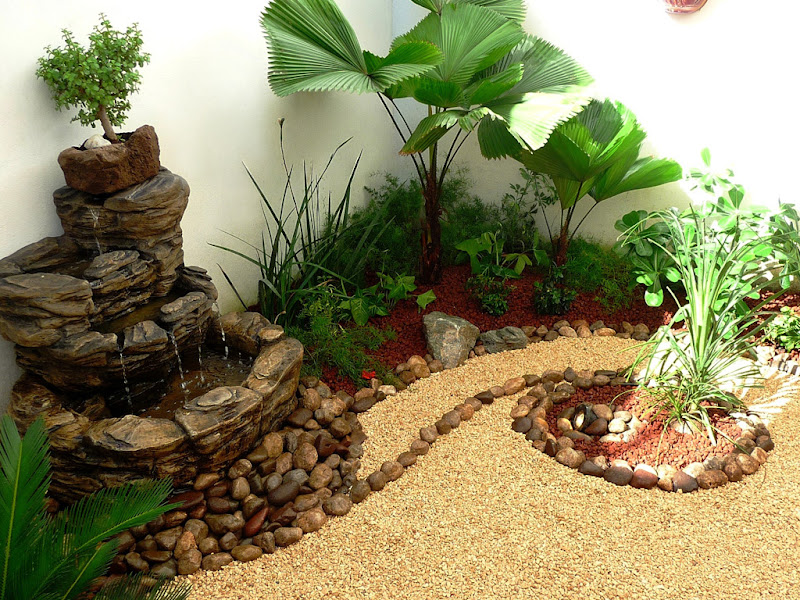 Zen ambient for Fuentes para jardin pequeno