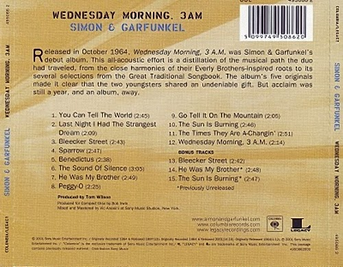 Simon Garfunkel Wednesday Morning 3 A M
