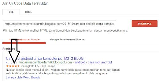 Cara menampilkan rating bintang di Google