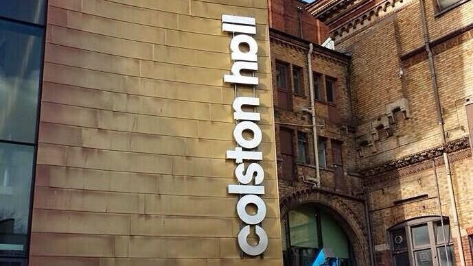 Colston Hall proofreading error