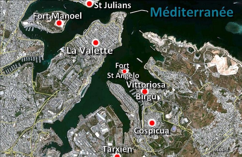 Coins du monde malte les anciennes capitales for Plan de malte