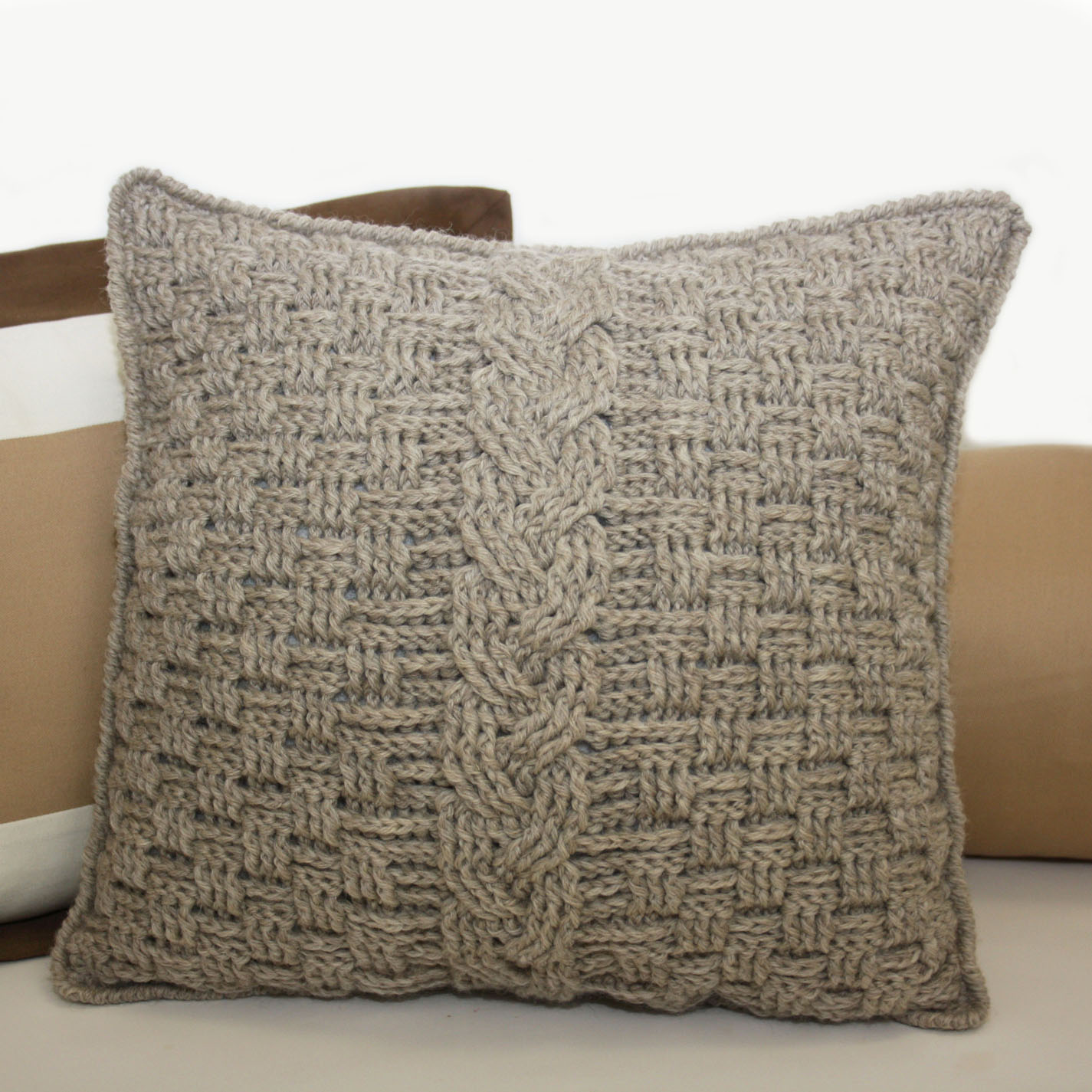Crochet Pillow : ... ?sew?cute design shop: new crochet pattern - aran accent pillow