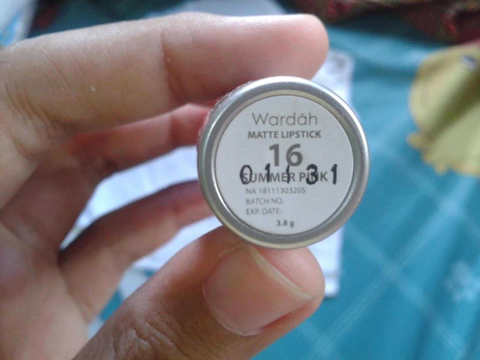 Wardah Matte Lipstick no 16 Summer Pink