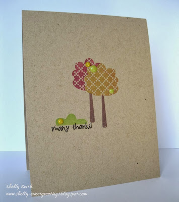 SRM Stickers Blog - Stamps & Stickers by Shelly - #card #thank you #stamped #stickers, #CAS