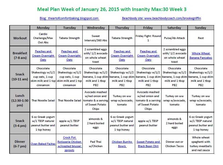 insanity meal plan pdf free