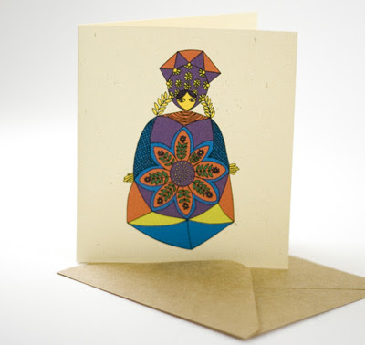 Laikonik Polish Folk Art greeting card