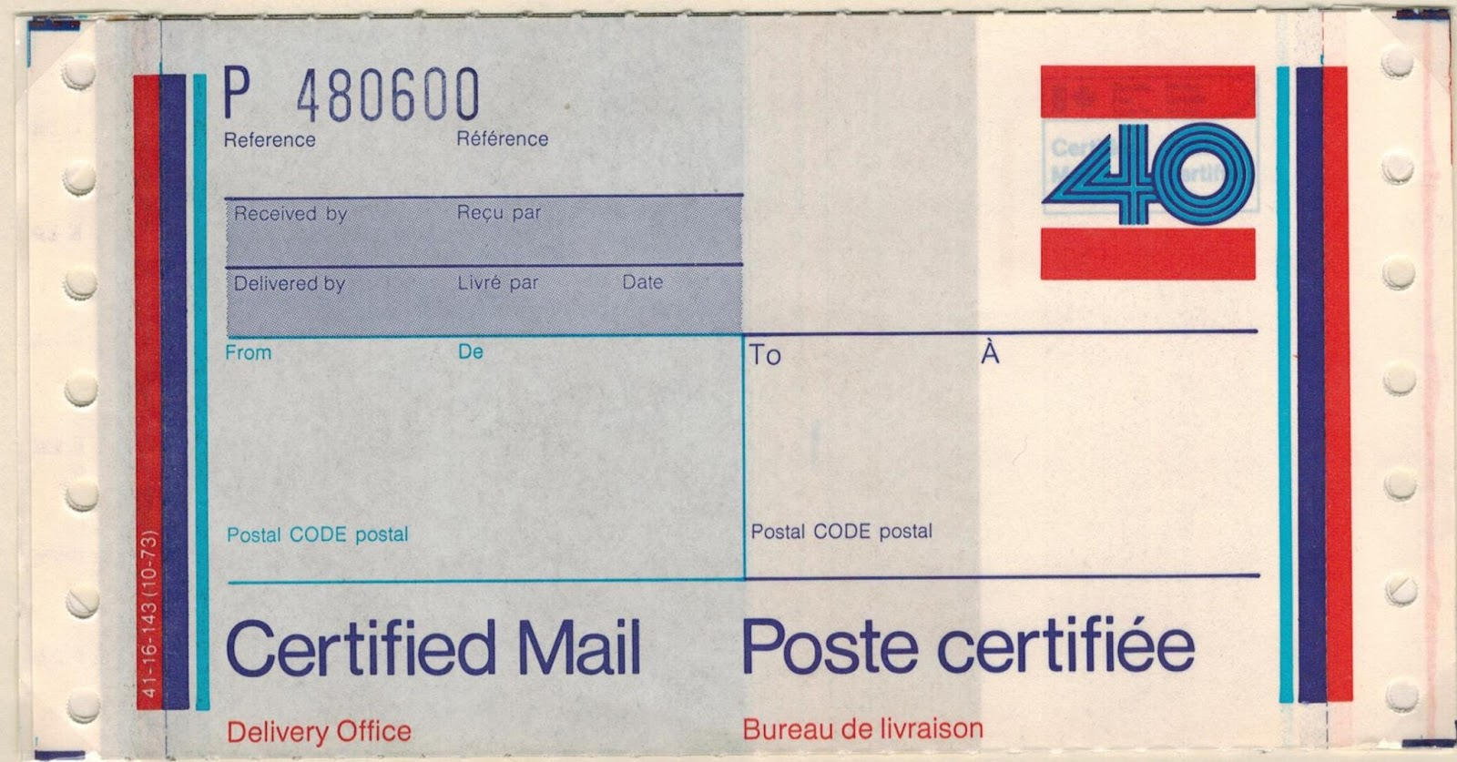 Postal History Corner Certified Mail