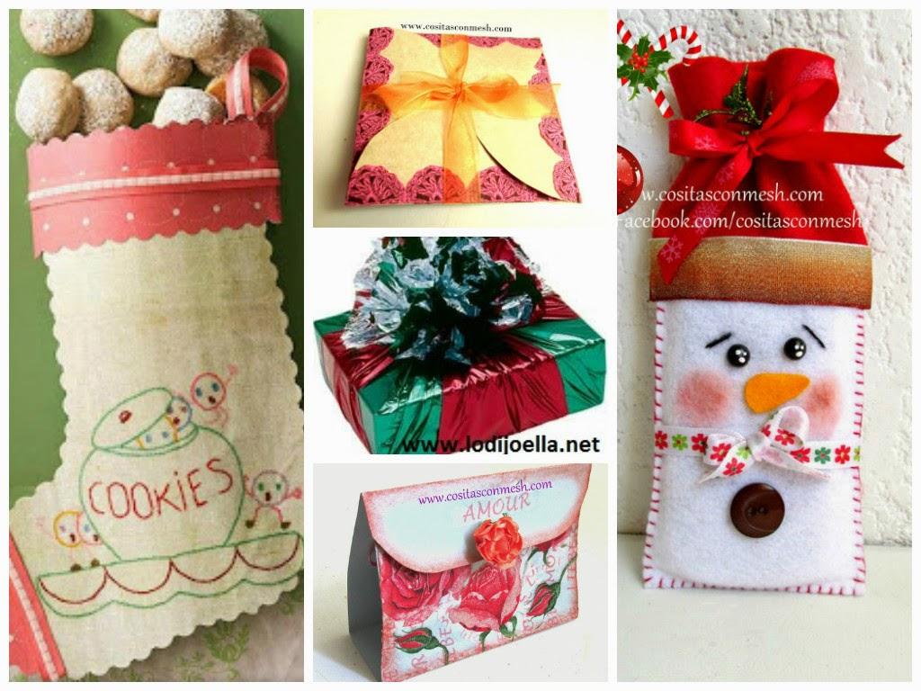 Envoltorios para regalos navide os manualidades for Regalos originales para navidad manualidades