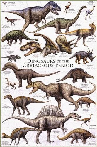 Resultado de imagen de dinosaurios en el cretacico