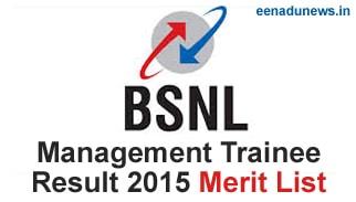 BSNL Management Trainee Result 2015 Declared, BSNL MT Result 2015 Cut Off Marks, BSNL MT Result 2015 Expected Date / Merit List announced at externalexam.bsnl.co.in MT Result 2015 List, BSNL 400 Management Trainee (MT) Result 2015 Merit List, BSNL MT Exam Results 2015