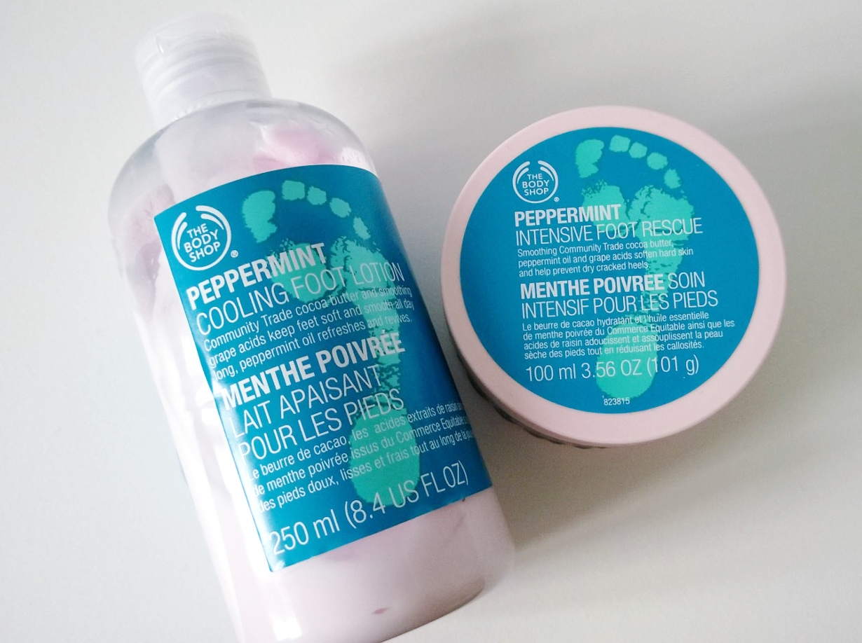 body shop foot cream review