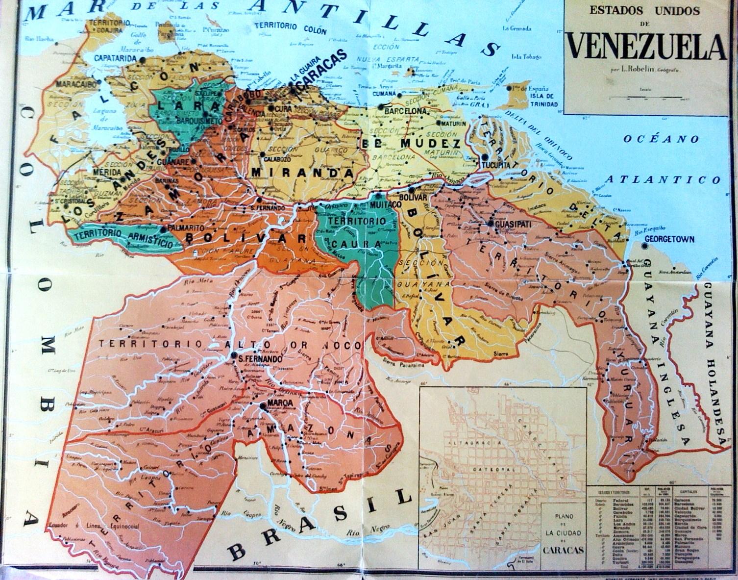 Dinamicauniversal: Mapa de los Estados Unidos de Venezuela, 1822