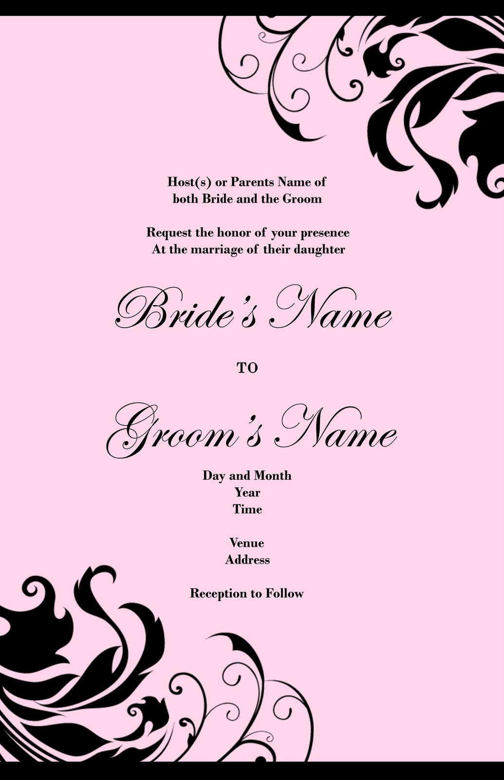 Wedding Invitation Design# 1054
