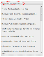 blogger mahir-Cara Membuat Daftar Isi pada Blog