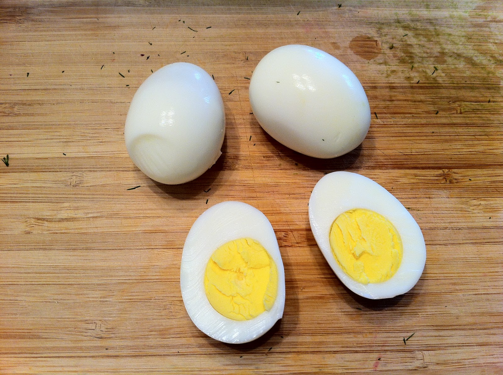 Halved Hard Boiled Egg