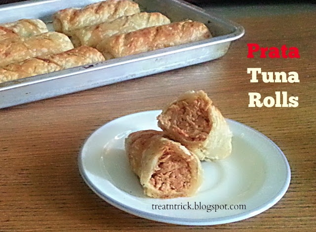 Prata Tuna Rolls Recipe @ treatntrick.blogspot.com