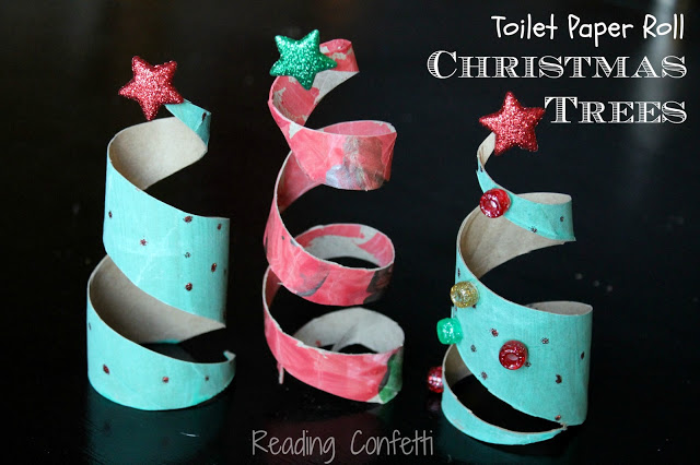 http://www.readingconfetti.com/2012/12/toilet-paper-roll-christmas-trees.html