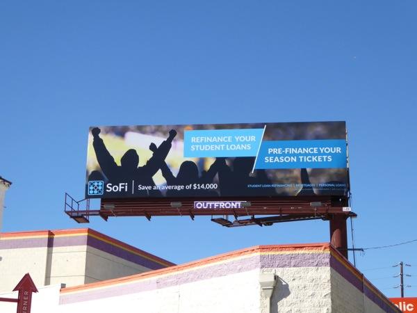 SoFi Pre-finance season tickets billboard