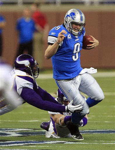 Overlooked a bit in the Lions' 34-28 nail-biter of a win over the Vikings on