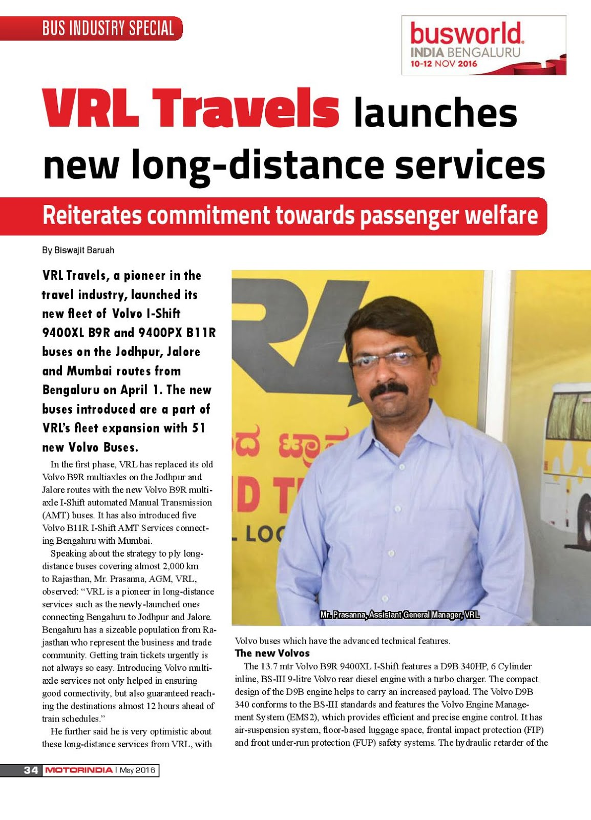 MOTOR INDIA ARTICLE 4 : VRL TRAVELS