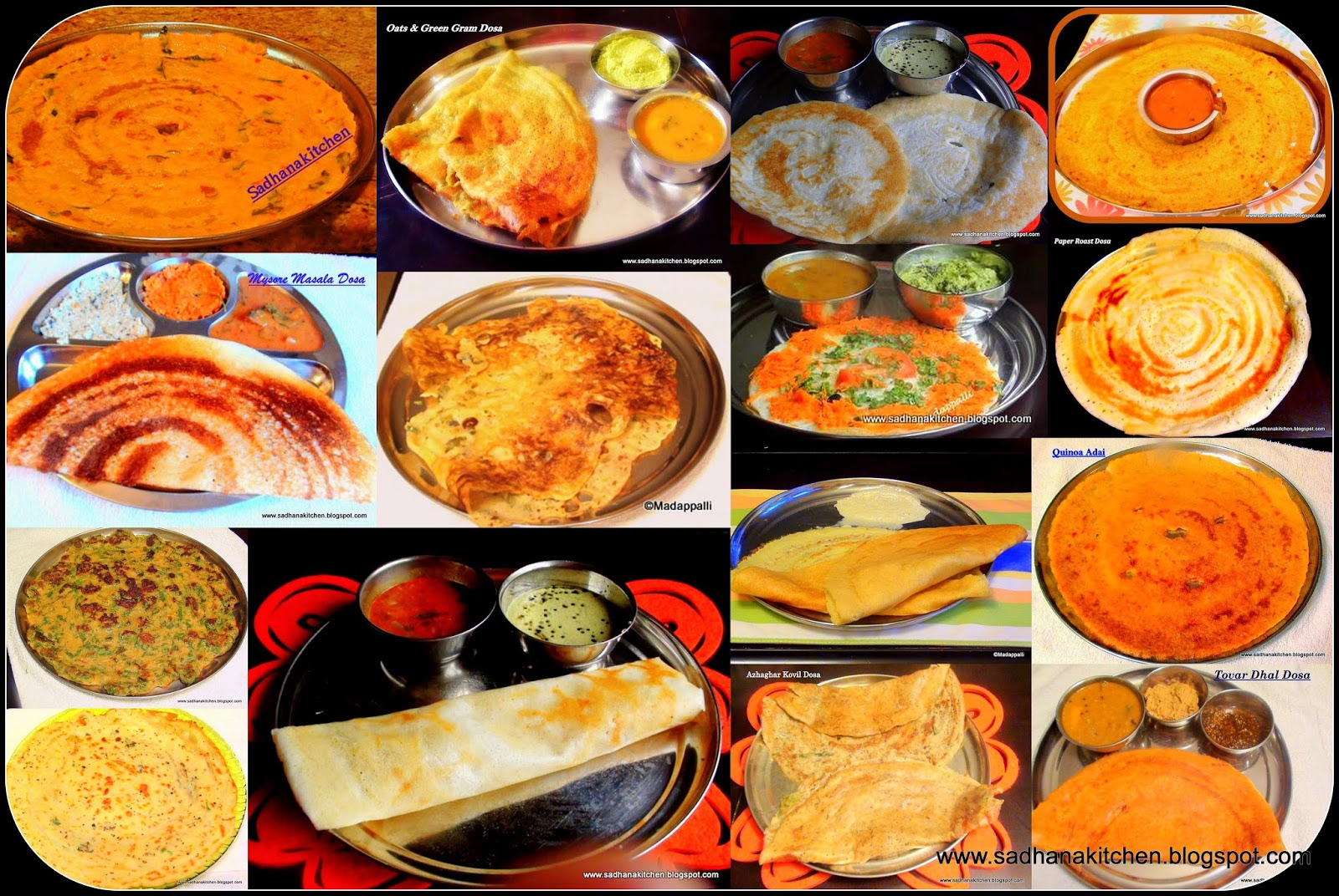 Variety of dosas indian crepe varieties cooking recipe more indian cooking instructions dosa is a fermented crepe made from rice batter and blacklentils it is a staple dish in south indian states forumfinder Image collections