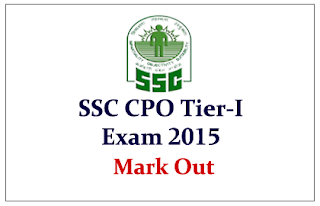SSC CPO 2015 Marks Out