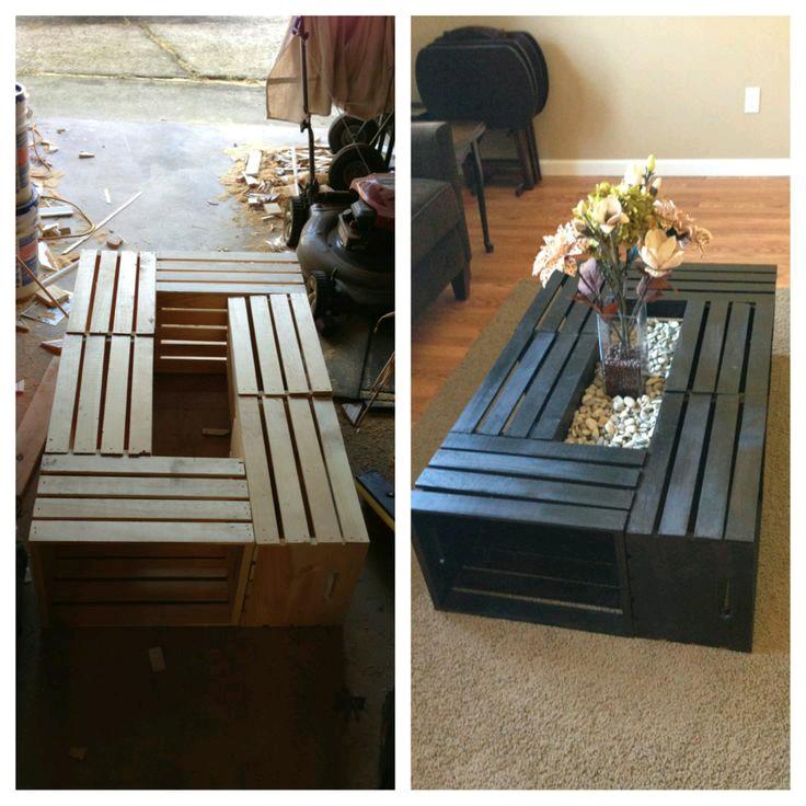 Reutiliza cajas rejas cajones de madera - Mesas hechas con cajas de madera ...